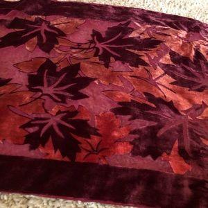 Fall leaf scarf